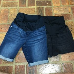 NWOT ~ TWO PAIRS OF MATERNITY SHORTS - SZ 6